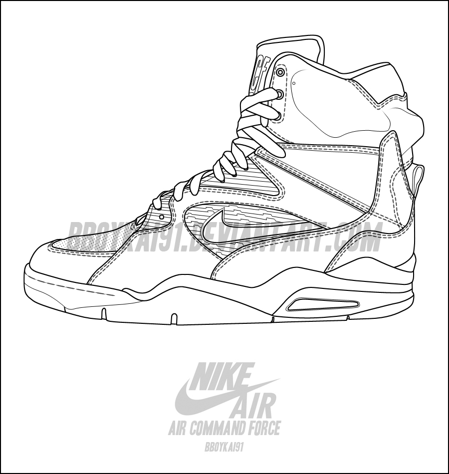 900x950 Nike Air Command Force Template By Bboykai91