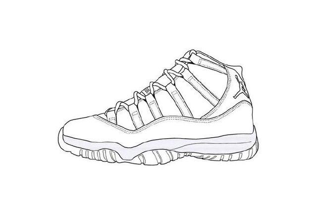 640x454 Air Jordan 11 Drawings