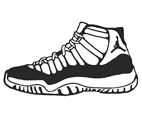 500x407 Jordan 11 Shoe Sneaker Vinyl Sticker Decal Nike Space