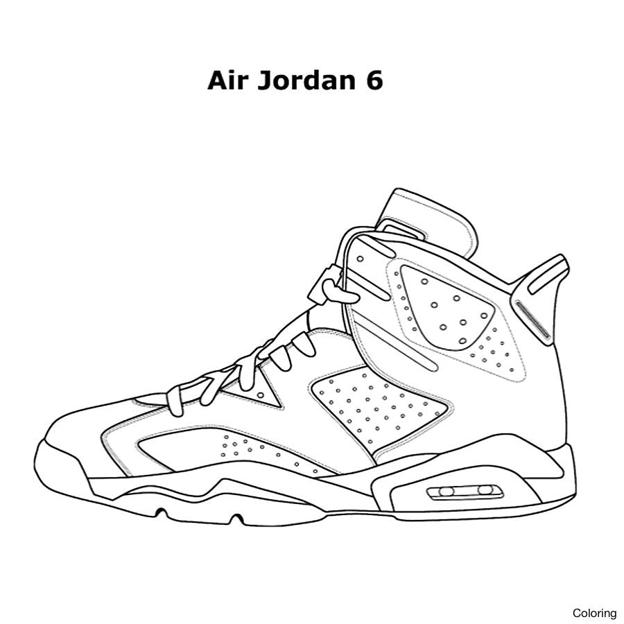 Jordan 6 Drawing