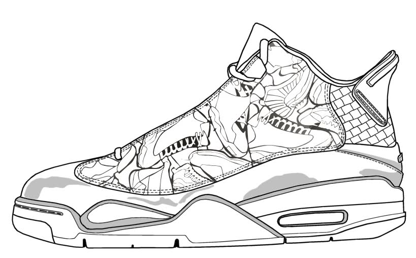 819x507 jordan 6 coloring pages - Jordan 6 Coloring Page