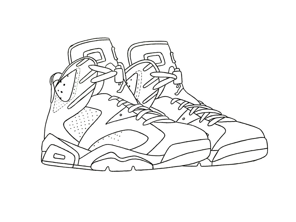 9a5257dbd07 Jordan 6 Drawing - Design Templates