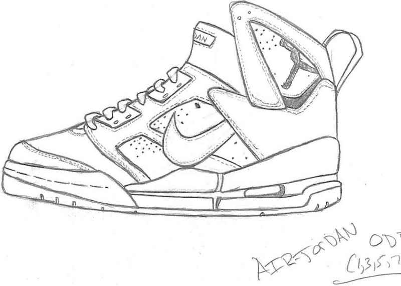 800x570 free coloring pages of air jordan 7 shoe pinterest air - Jordan 7 Coloring Page