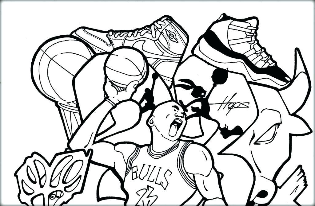 1024x671 Jordan Shoes Coloring Sheets Free Sneaker Coloring Pages Shoe