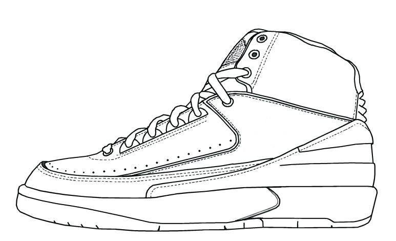Jordan Drawing Shoes at GetDrawings | Free download