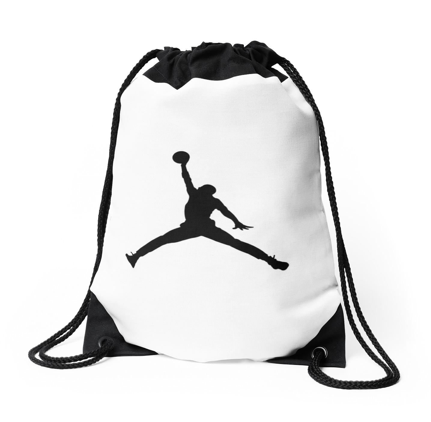 1435x1404 Jordan Logo Drawstring Bags By Framie Redbubble