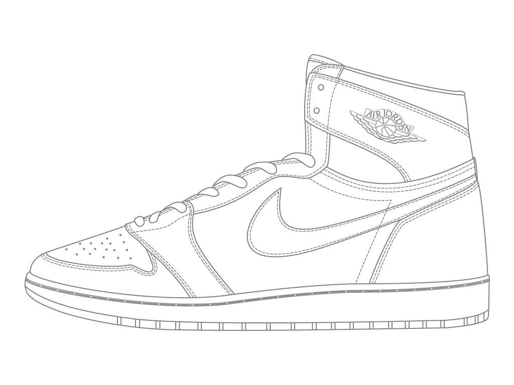 1024x768 Concord Jordan 11 Coloring Pages Drawing Jordans Shoes