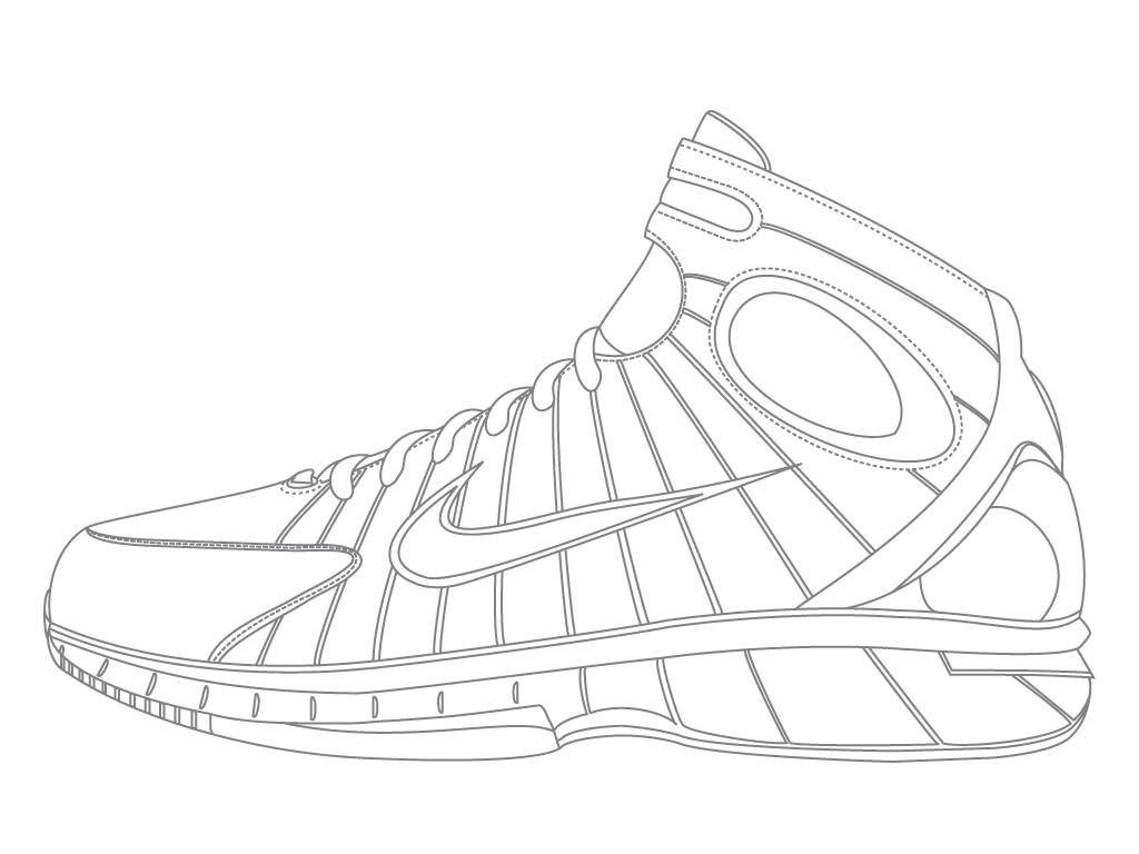 1024x768 Excellent Jordan Shoes Coloring Pages