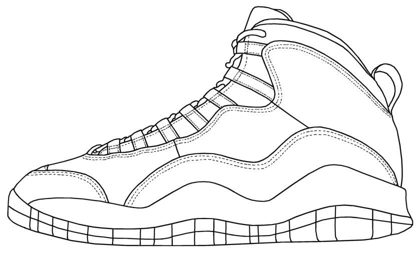 Jordan Shoes Drawing at GetDrawings.com | Free for personal use ...
