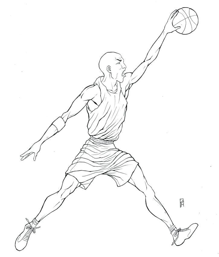 725x850 Michael Jordan Coloring Pages