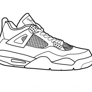 300x300 Air Jordan Coloring Pages Shoes Copy Michael Jordan Shoes Coloring