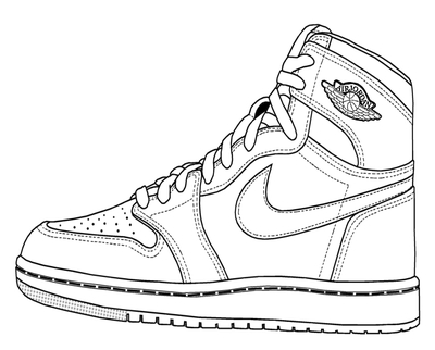 400x322 Air Jordan Sneaker Coloring Pages Page Image Clipart Images