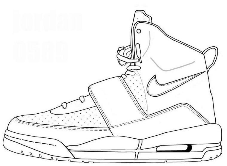 760x558 Jordan Coloring Pages Shoes