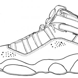 300x300 Pics Of Drawing S Shoes Coloring Pages Retro Sketches Shoes Adult
