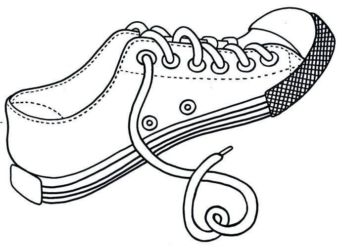 687x500 Coloring Page Jordan Shoes Coloring Pages. Michael Jordan Shoes