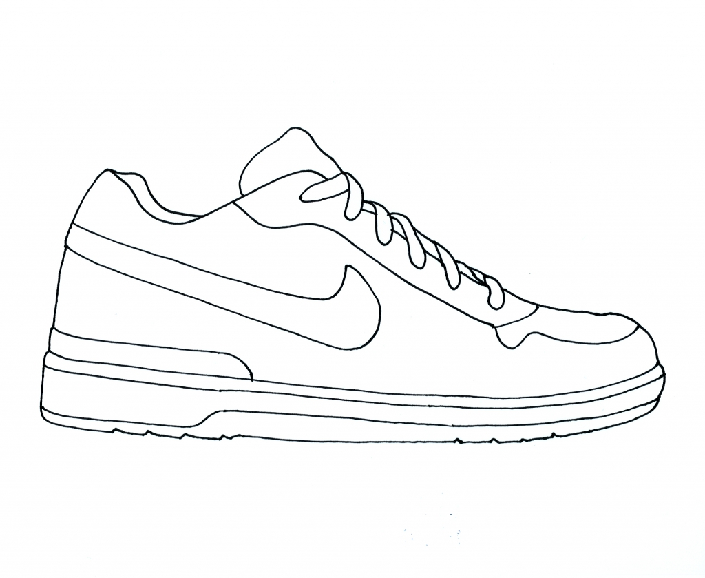 1024x839 Drawing Jordans Shoes Coloring Pages Sub Folder