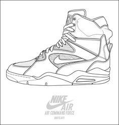 236x249 Sneaker Line Drawing Aj1 Diy Coloring Books