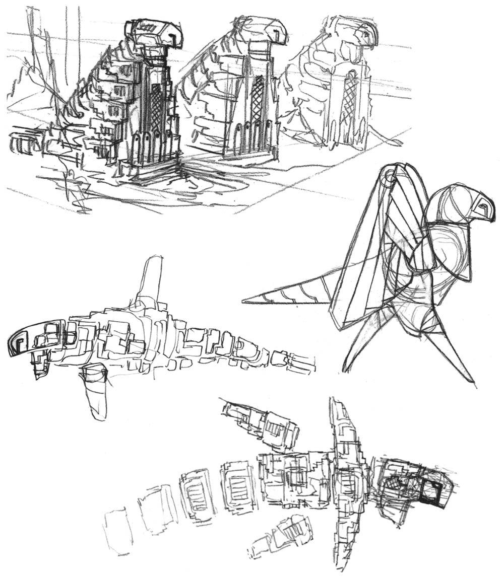 1000x1150 Journey. Pre Development Sketches