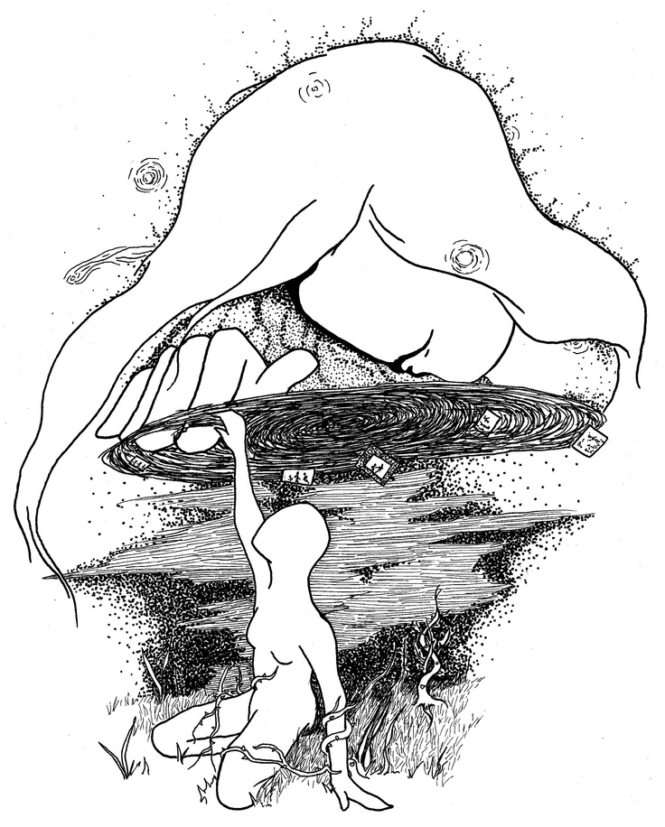 736x916 Original Ink Drawing For Poetry Book Invocation Mystic