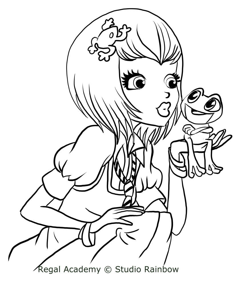 827x992 Joy Le Frog Of Regal Academy Coloring Pages
