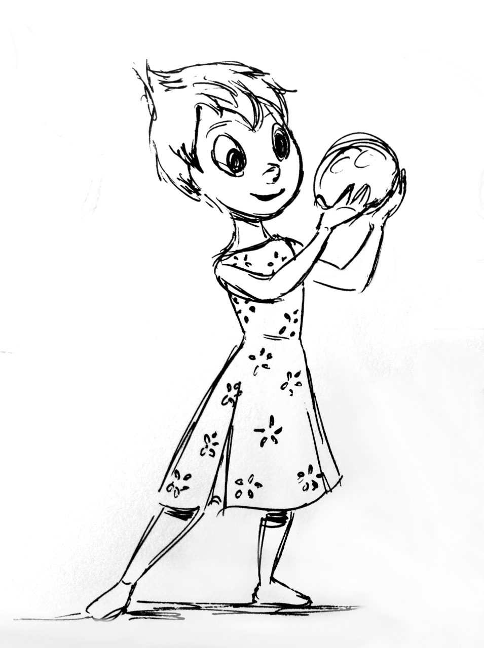 955x1280 Drawing Of Disney Pixar's Joy From Inside Out. By Yenthe Joline