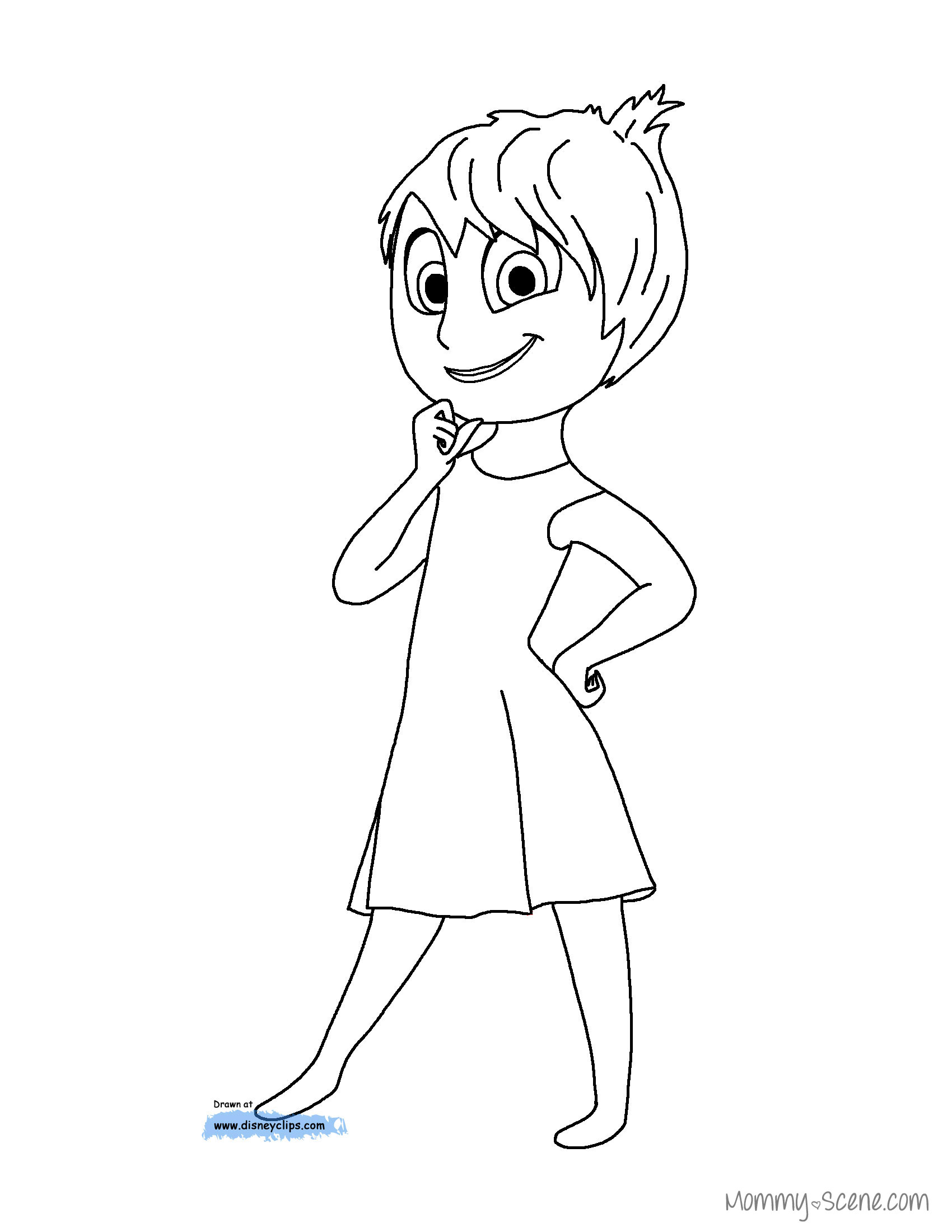 1700x2200 Disney's Inside Out Coloring Pages Disney S