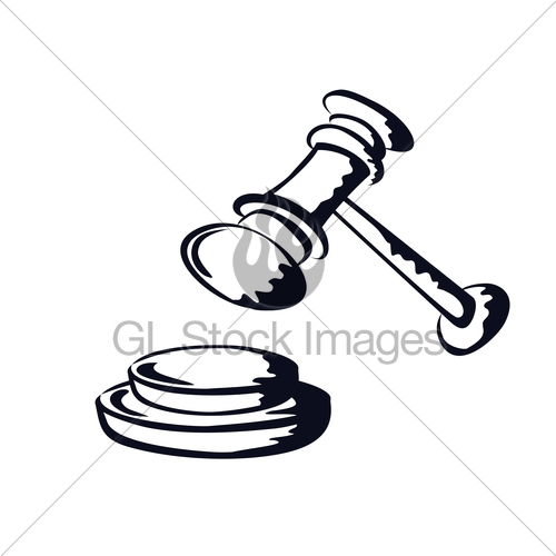 500x500 Judge Gavel,sketch Shape,vector From Gl Stock Images