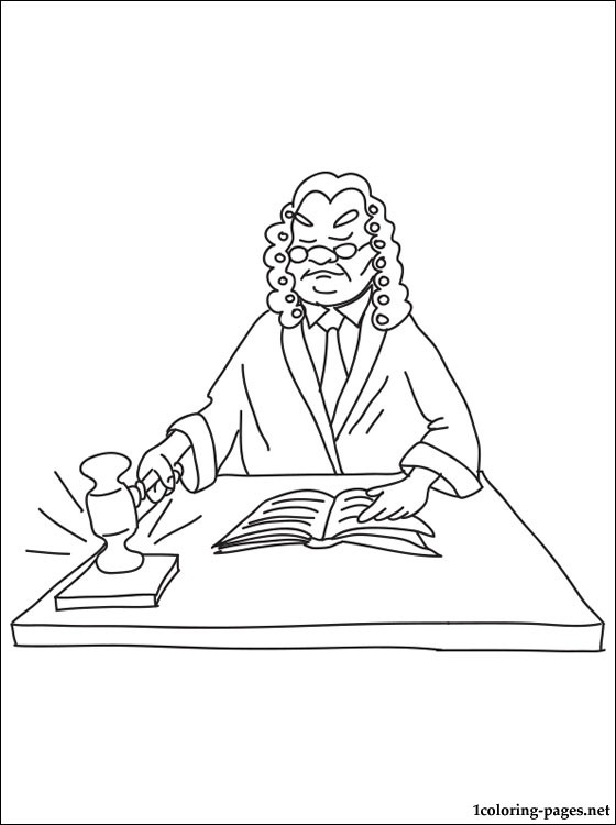 560x750 Judge Coloring Page Coloring Pages