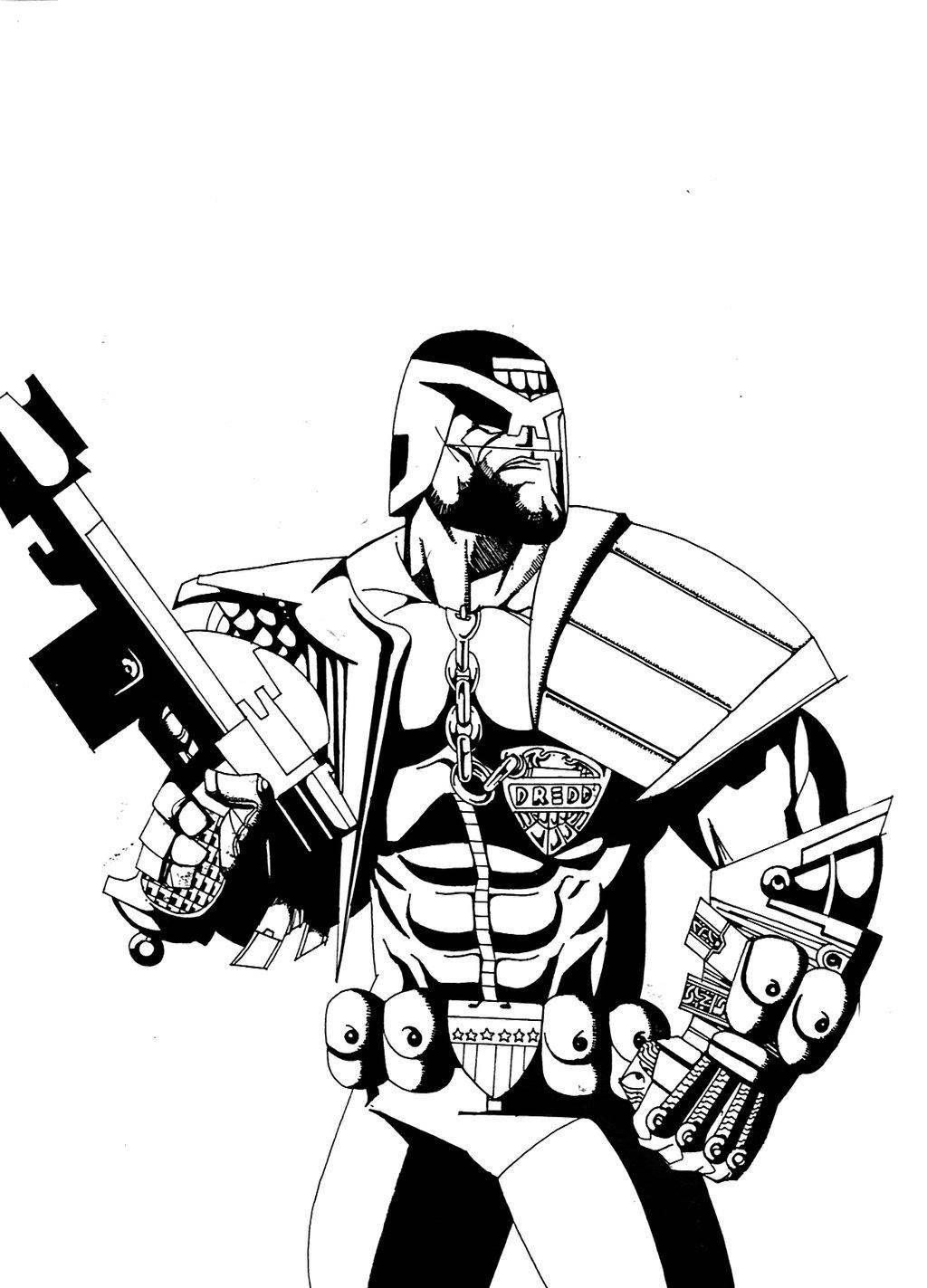 1024x1423 Judge Dredd 1998 Inks By Sigma958