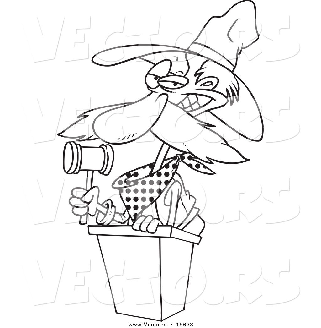1024x1044 Gavel Coloring Page