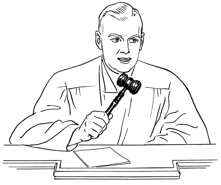716x599 Judge Png Black And White Transparent Judge Black And White.png