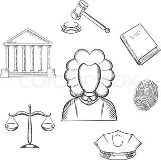 320x317 Judge Gavel,sketch Shape,vector From Stock Vector Colourbox