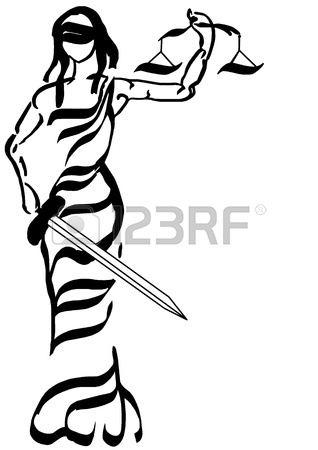 318x450 Justitia, The Goddess Of Justice Stock Photo, Picture And Royalty
