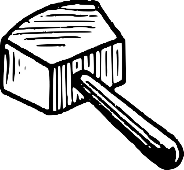 600x556 Mallet Free Vector In Open Office Drawing Svg ( Svg ) Vector