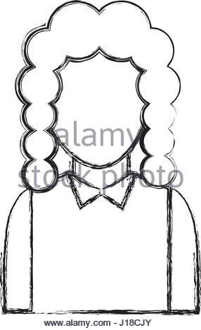 286x470 Judge Avatar Character Icon Vector Illustration Design Stock