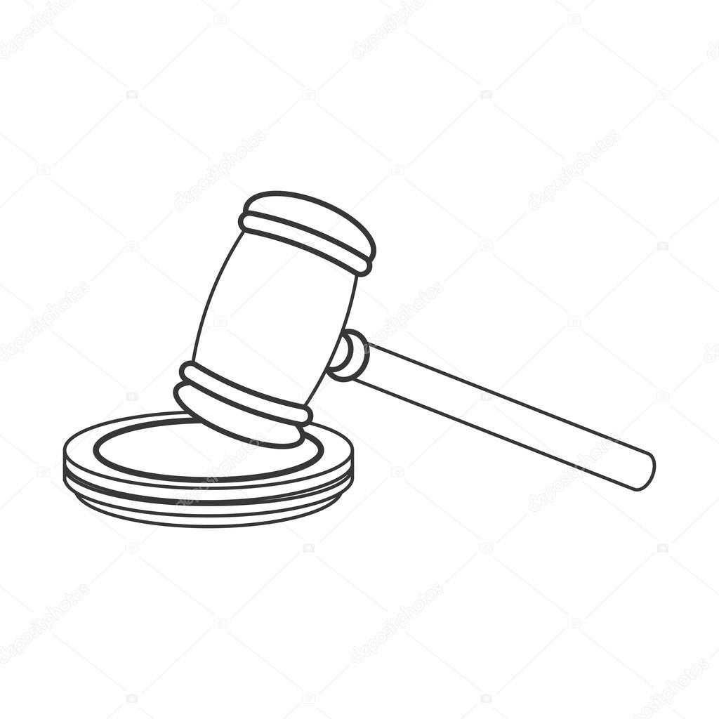 1024x1024 Judge Gavel Icon Stock Vector Jemastock