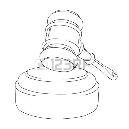450x450 Auction Hammer. Judge Gavel Isolated On White Background