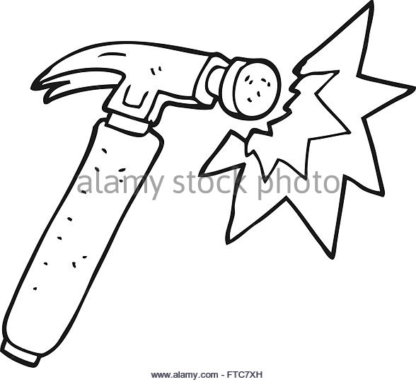 588x540 Cartoon Hammer Black And White Stock Photos Amp Images