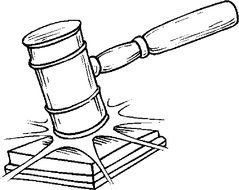 239x190 Judge Gavel Coloring Page N2 Free Image