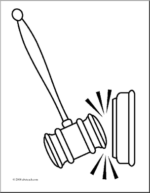 304x392 Judge Gavel Coloring Page Coloring Pages For Free