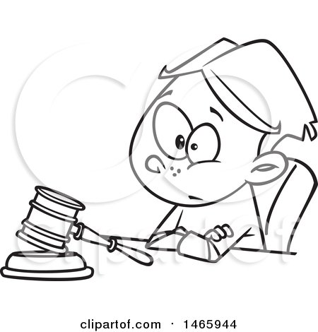 450x470 Royalty Free Judge Illustrations By Toonaday Page 1