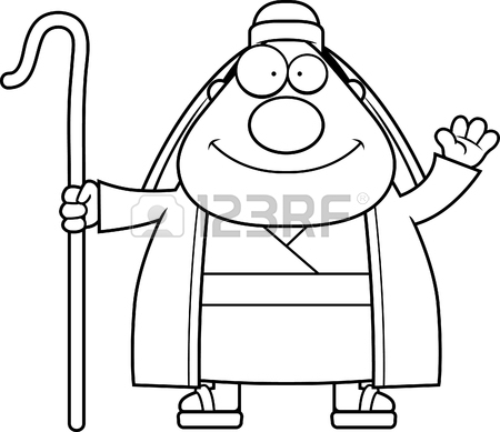 450x389 A Cartoon Illustration Of A Judge Holding A Gavel. Royalty Free