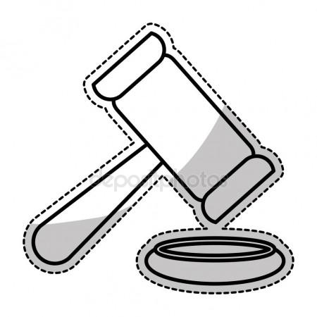 450x450 Law Gavel Icon Stock Vector Djv