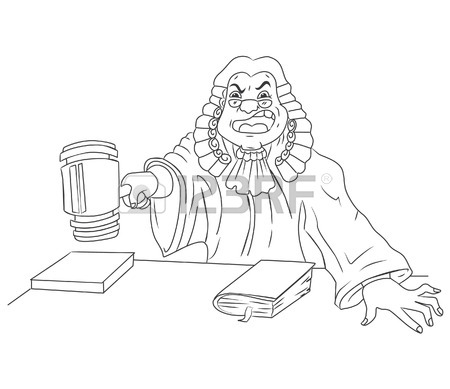 450x389 Black White Judge Man Royalty Free Cliparts, Vectors,