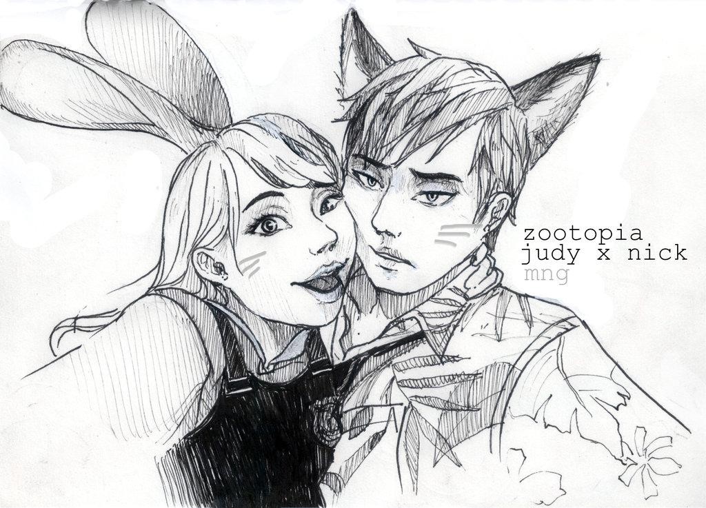 1024x737 Judy Hopps And Nick Wilde By Kimiriki Chan