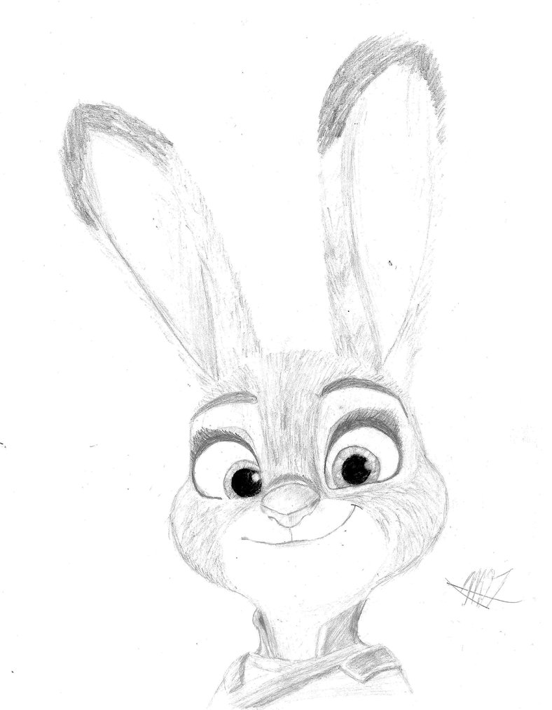 788x1013 Judy Hopps Graphite And Charcoal Scanned Reupload By