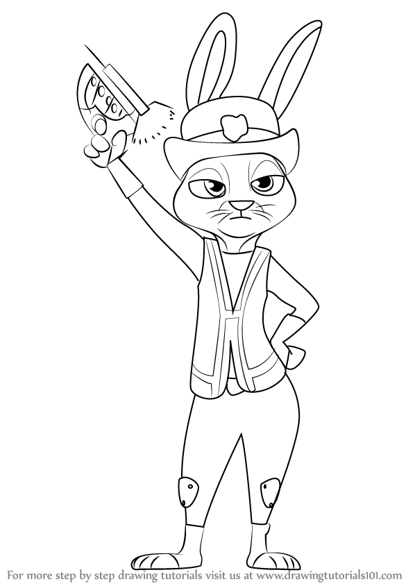 598x844 Learn How To Draw Judy Hopps From Zootopia (Zootopia) Step By Step