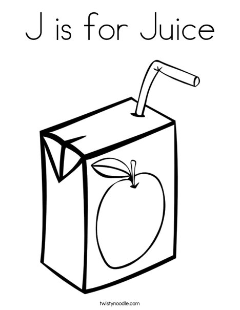 468x605 J Is For Juice Coloring Page