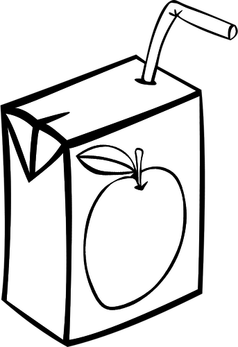 343x500 Apple Juice Box Vector Image Public Domain Vectors