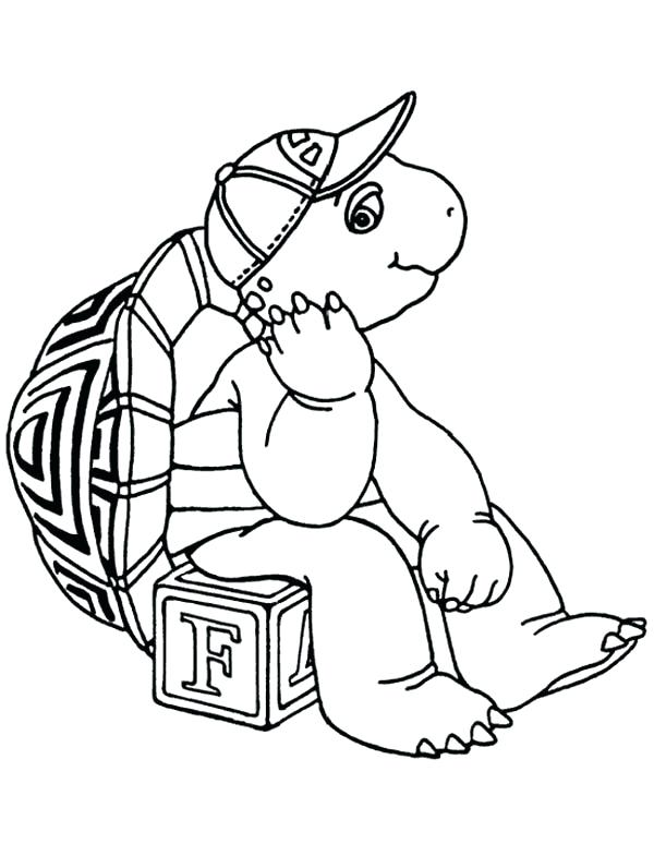 600x796 Box Coloring Page The Turtle Sitting On Letter Box Coloring Pages